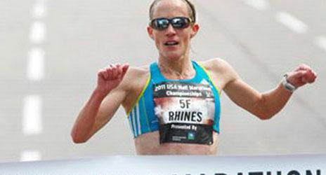Jen Rhines wins USA Half Marathon 2011